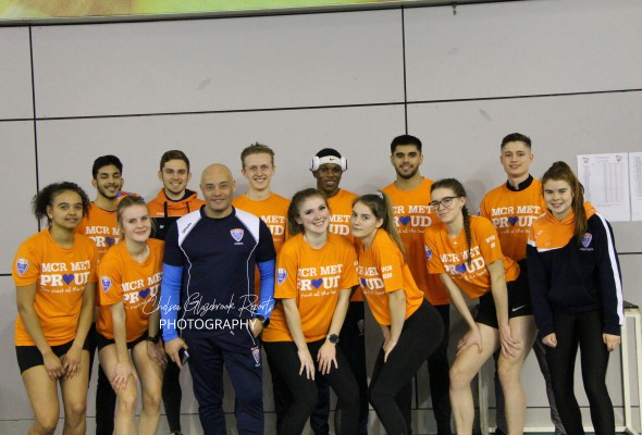 Man Met's Athletics Team. Photo: Chelsea Glazebrook