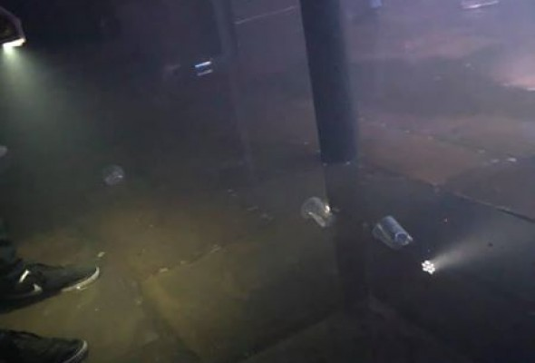 Joshua Brooks bottom floor flooded on Monday night during 'Quids in' event (credit: Michael Hawkins)