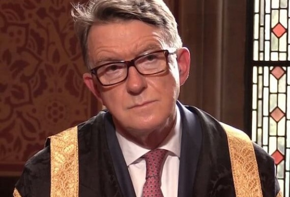 Lord Peter Mandelson, Chancellor of Manchester Metropolitan University