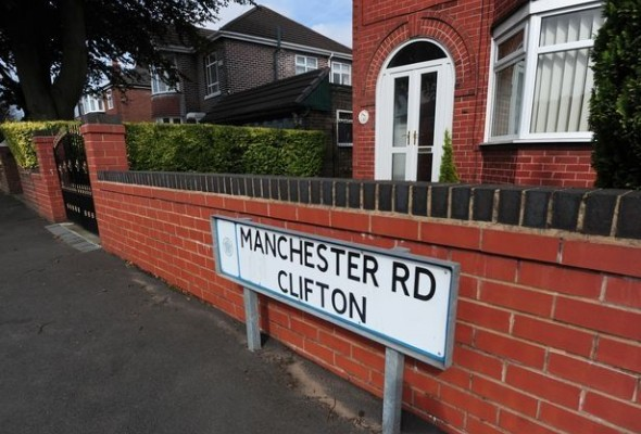 The offending road in Manchester