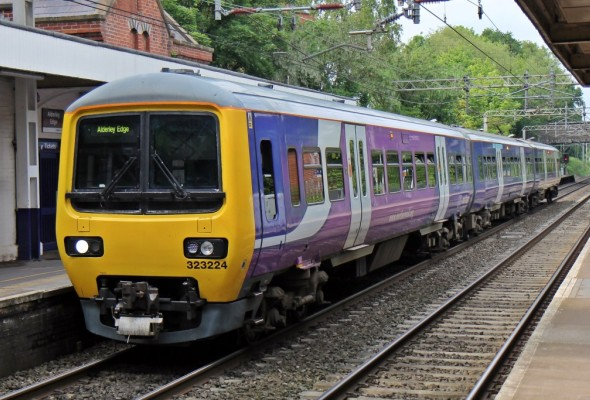 Northern Rail train at Alderley Edge