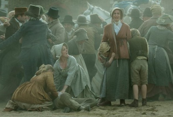 Simone Bitmate and Rachel Finnegan in Peterloo