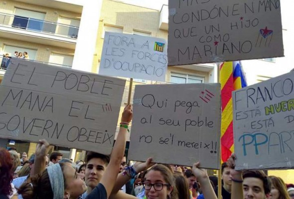 Catalonia Crisis, Catalonia independence protests, Spain