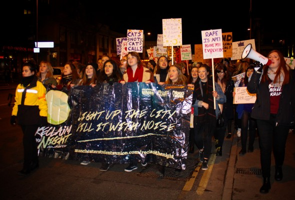 Reclaim the Night march Manchester students union