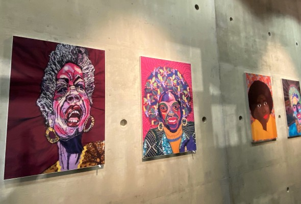 Black History Month textile art in Manchester