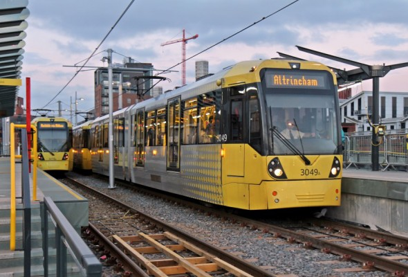 Tram at Deansgate