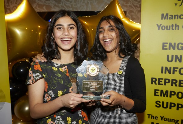 Minnahil Rashid and Maham Shahzad at the Youth Buzz Awards 2018