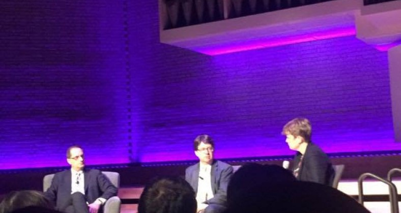 From left to right: Jerry Butting, Dean Strang, Dr Hannah Quirk.