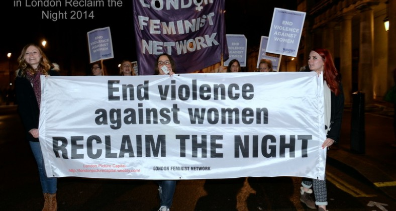 Reclaim the Night march in London 2014