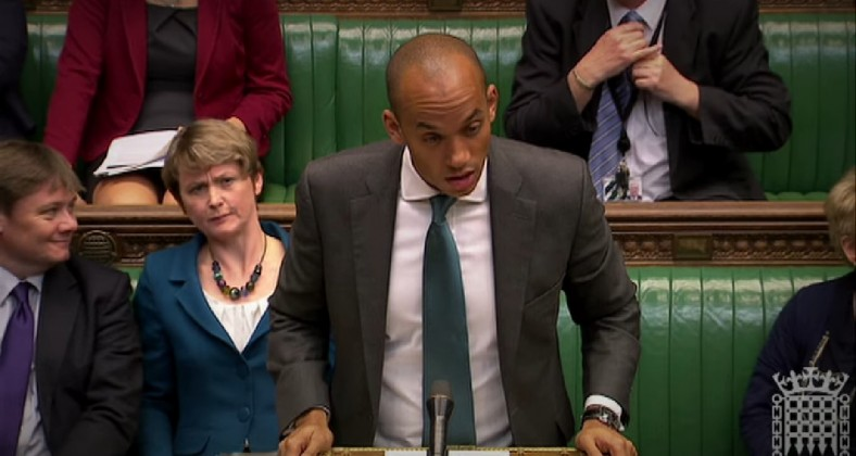 Chuka Umunna speaks in parliament
