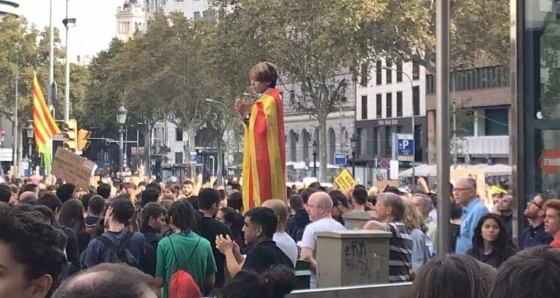 Barcelona, Catalan, protests, separatists, independence, Spain, protests