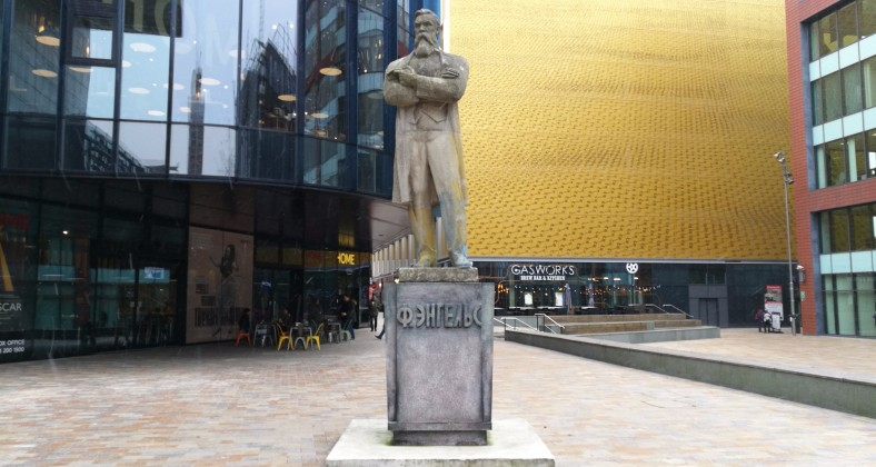 Friedrich Engels Statue on First Street