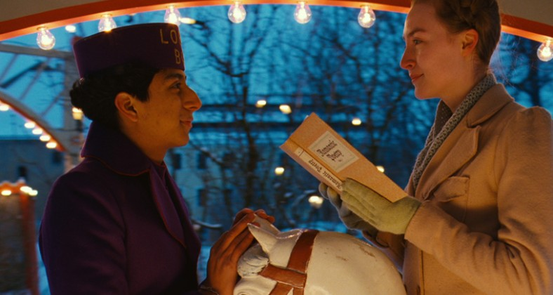 Revolori and Ronan in Grand Budapest Hotel. Credit: 20th Century Fox