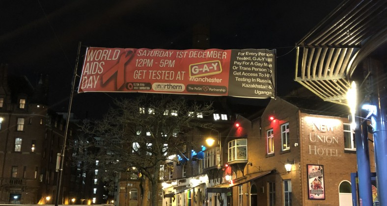 GAY World AIDS Day Banner 2018 Free Testing
