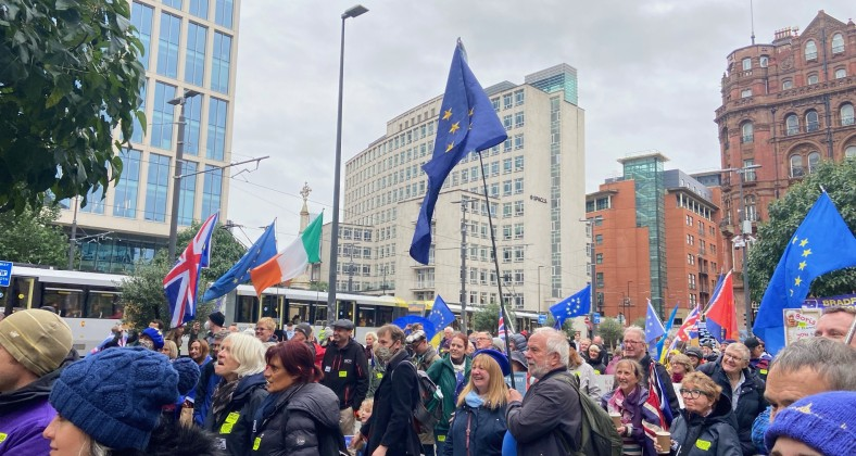Brexit, protest, Manchester