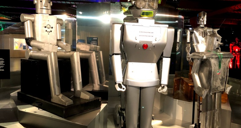 Robots on display at Manchester Museum of Science and Industry