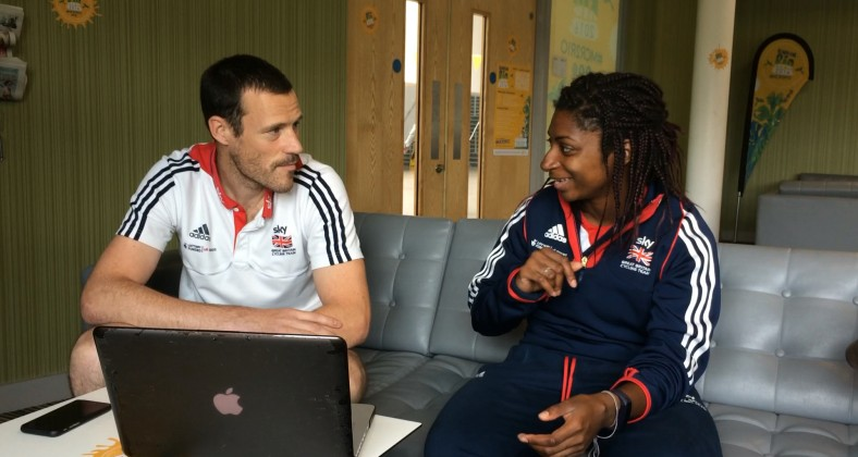 Kadeena Cox and her coach make final preparations before she leaves for the Rio Paralympics