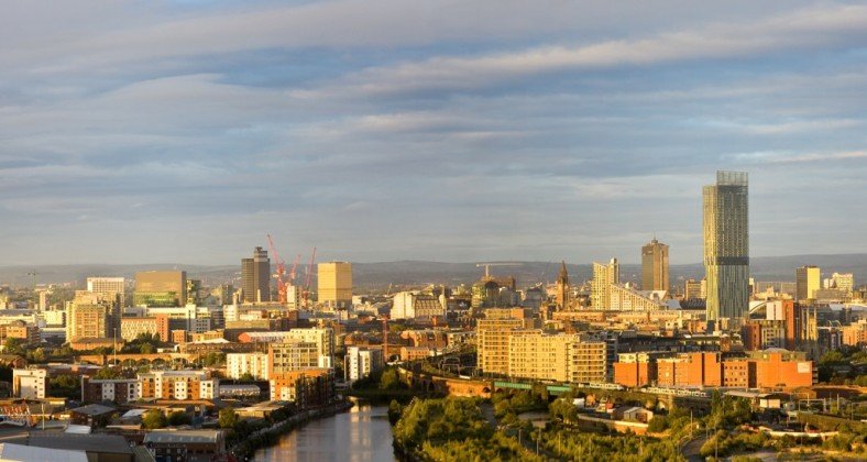 skyline of manchester
