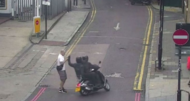 Moped attack