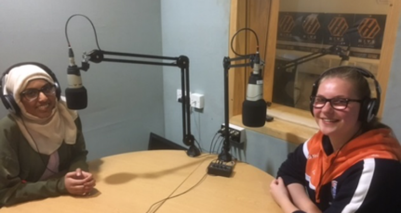 NQ reporter interviewing a sports student