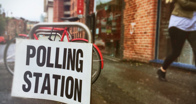 Polling station in central Manchester