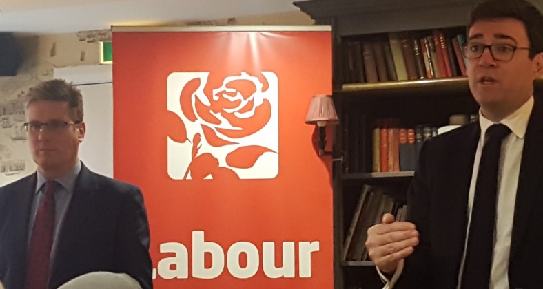 Keir Starmer and Andy Burnham in Manchester