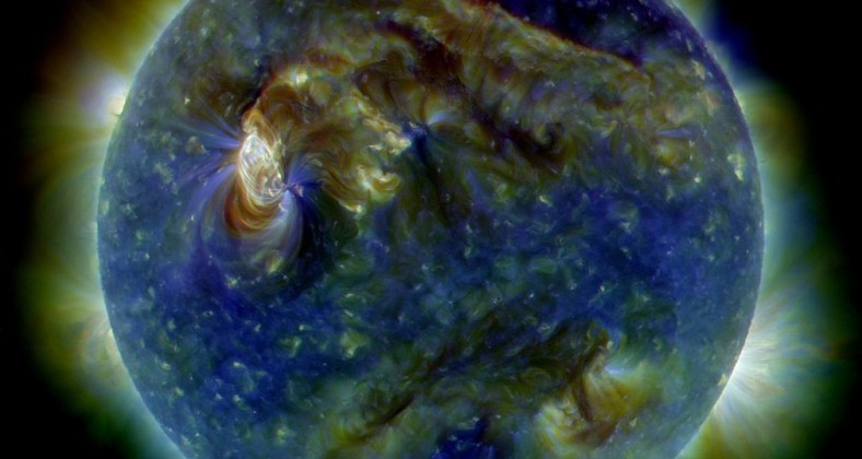 A NASA picture of a solar flare