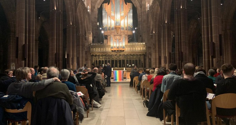 Manchester Cathedral during the carol service