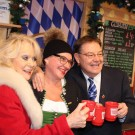 Sherrie Hewson, Pat Karney and Anja the first stall holder