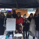 Students campaigning against modern day slavery
