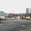 Police crdon in Spinningfields as unexploded device is found