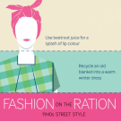 Fashion on the Ration exhibition poster