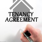 Tenancy Agreement Stock image
