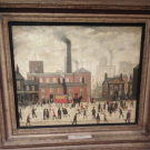 LS Lowry at Manchester Art Gallery.