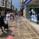Shoppers in Manchester city centre following the easing of coronvarius restrictions this week