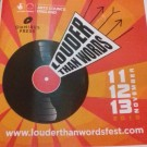 The logo for the Manchester literal festival, Louder than words