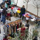 shoppers at a popswap at mmu