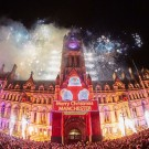 Manchester Town Hall during the Christmas lights turn on