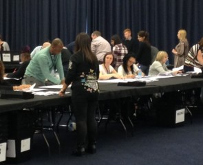 Election count taking place