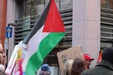 Palestine flag at protest