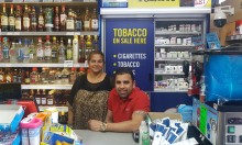Danish & Shital Patel in they convenience shop in Blackley