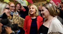 Jane Brophy with supporters