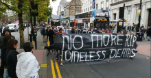 Homeless march demands no more deaths on the streets of manchester