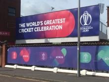Cricket World Cup sign