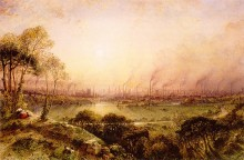 Manchester from Kersal Moor in 1857, by William Wylde