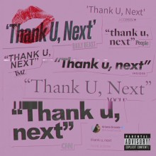 thank u, next single cover art