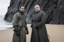 Jon and Varys in Game of Thrones