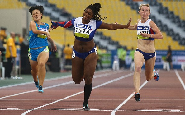 Kadeena Cox Winning Race